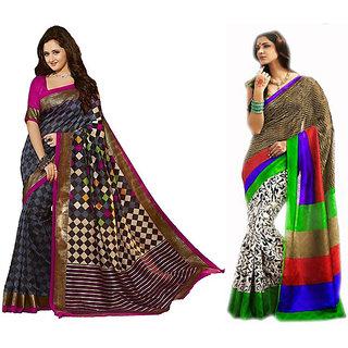 Pari Designer Multicolor Printed Silk Saree