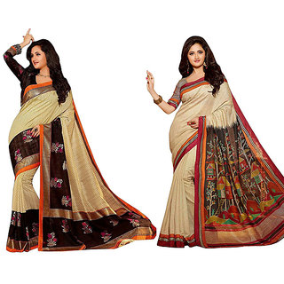 Pari Designerr Multicolor Silk Printed Saree With Blouse