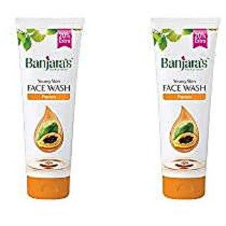 Banjara'S Face Wash, Papaya, 100 Ml + 20 Ml Free