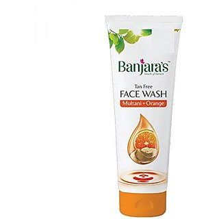 Banjaras Multani+Orange Face Wash (100Ml) (Pack Of 2)
