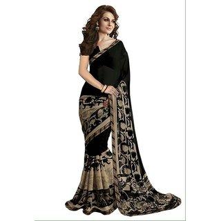 Pari Designer Black Printed Silk Saree
