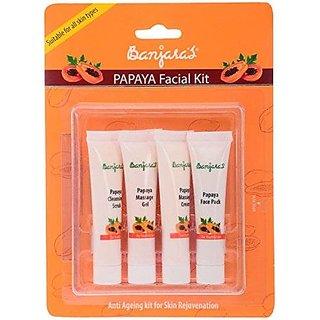 Banjara'S Facial Kit, Papaya (Pack Of 4)