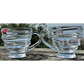 Ada Tableware Serving Stylish Glass Tea Coffee Cups 6Pcs(Blinkmax)