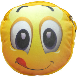 Donex 2 L Smiley Soft Messenger bag for Kids Yellow RSC01480