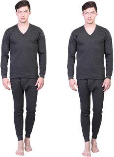 Vimal-Jonney Winter Cover Black Upper & Bottom Set For Men(Pack Of 2)