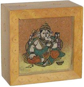 Ganesh Art In Wooden Box