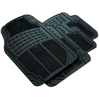 Car Rubber Foot Mat Black For Toyota Etios