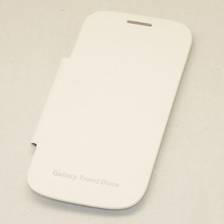 FLIP CASE COVER COVER FOR SAMSUNG GALAXY S Duos S7562 White