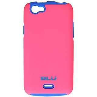 BLU ArmorFlex PC and Silicon Case for Life Play Mini Carrying Case - Retail Packaging - Blue/Pink