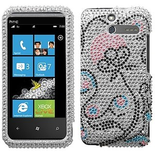 Asmyna HTCARRIVEHPCDM141NP Dazzling Luxurious Bling Case for HTC Arrive - 1 Pack - Retail Packaging - Sunny Flower