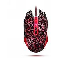 Qisan(TM) Gaming Mouse USB Wired Mice 4000 DPI 7 Programable Button DU012(Red) W/ Qisan Micro USB USB 2.0 Host OTG Cable