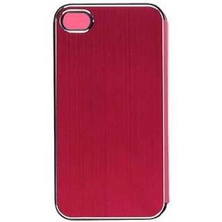 Cell Armor Hybrid Novelty Case for iPhone 4/4S - Retail Packaging - Magenta Diary Case