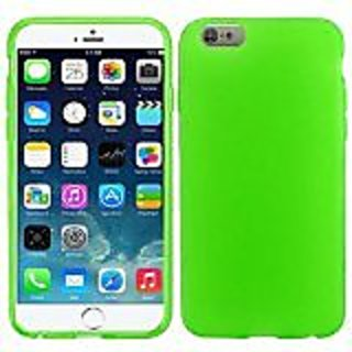 HR Wireless Frosted TPU Cover for Apple iPhone 6 Plus - Retail Packaging - Neon Green