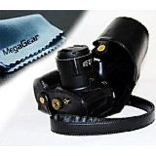 MegaGear Ever Ready Protective Leather Camera Case, Bag for Canon PowerShot SX60 HS Digital Camera (Black)