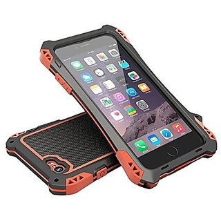 Evershop® Aluminum Metal Gorilla Glass Heavy Duty Iphone 6 Plus Case(5.5inch) Waterproof Shockproof Dirt Proof Amira