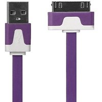 KATINKAS 2108047256 Color Charge And Data Cable For IPhone - Retail Packaging - Purple