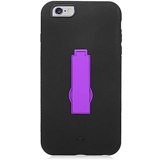 Eagle Cell Hybrid Armor Protective Case with Stand for Apple iPhone 6 Plus - Retail Packaging - ZZ0 Purple/Black