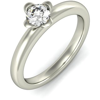 Amogh Jewels 0.10 CT Solitaire Flower Ring