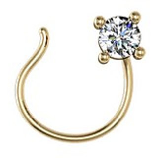 Jewel Hub Vvs Ef Diamond Nose Pin 0 02 Ct 0 15 Gm 18k Gold