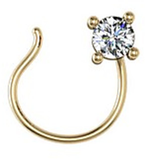 Jewel Hub Vvs Ef Diamond Nose Pin 0 02 Ct 0 15 Gm 18k Gold Prices In India Shopclues Online Shopping Store