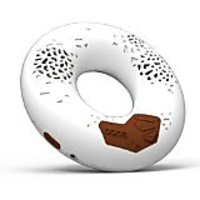 CODE Donut Premium Portable Wireless Bluetooth Speaker With NFC Tag (White, Dual Drivers, Built-in Speakerphone