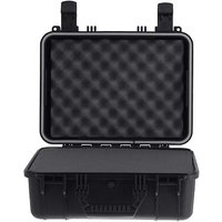 Condition 1 101179 Watertight Medium Case With Foam Water Proof/Dust Proof Dry Box (Black)