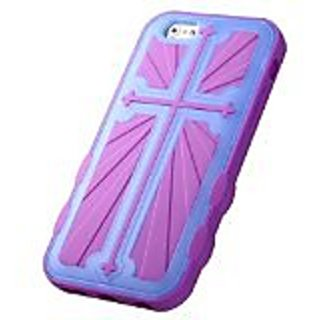 MyBat Rubberized Cross Hybrid Protector Cover foriPhone 6 - Retail Packaging - Transparent Light Blue (Glow-In-The-Dark)