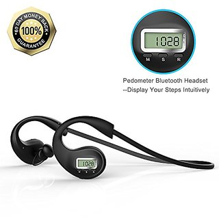 Bluetooth Headset, Levin® Wireless Sport Headphones Bluetooth V4.1 HD Stereo with Fitness Pedometer Tracker In-ear