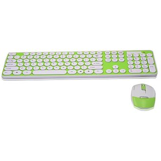 LaptopAcc Slim 2.4Ghz Wireless Keyboard Nano USB Receiver And Shine Optical Mouse Combo For Windows 8, 7, Vista, XP ,PC,