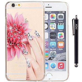 iPhone 6 Plus Case, iPhone 6S Plus Case, iYCK Hard Plastic Case Bling Crystal Rhinestone Diamond Translucent Snap On She