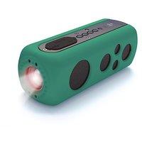 Pyle PWPBT75GN Sound Box Splash 2 Bluetooth Rugged And Splash-Proof Speaker System With Built-in Flashlight