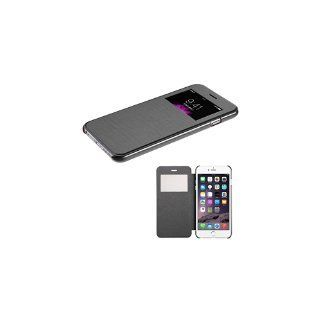 MyBat MyJacket with Transparent Frosted Tray for iPhone 6 Plus - Retail Packaging - Black Silk Texture