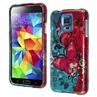 HR Wireless Samsung Galaxy S5 Design Cover Case, Butterfly Bliss