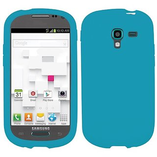 MYBAT Solid Skin Cover for Galaxy T599 Galaxy Exhibit - Carrying Case - Retail Packaging - Tropical Teal