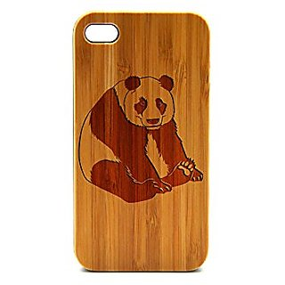 Krezy Case Real Wood iPhone 5 Case, Cute Panda iPhone 5 Case, Wood iPhone 5 Case, Wood iPhone Case