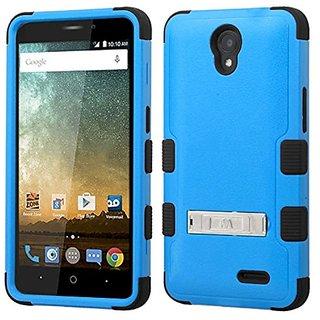 MyBat Cell Phone Case for ZTE N9132 (Prestige) - Retail Packaging - Black/Blue