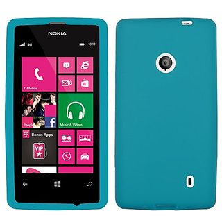 MYBAT Skin Protector Case for Nokia Lumia 521 - Carrying Case - Retail Packaging - Tropical Teal