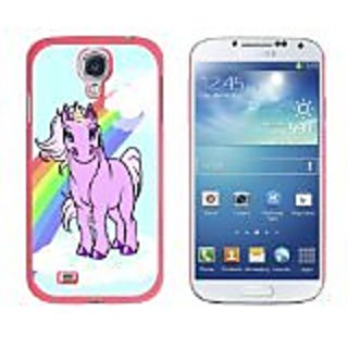 Graphics and More Snap-On Hard Protective Case for Samsung Galaxy S4 - Cute Unicorn Rainbow and Cloud - Non-Retail Packa