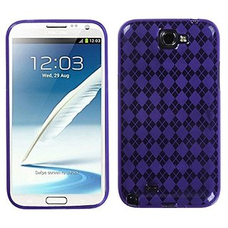 Asmyna SAMGNIICASKCA070 Argyle Premium Slim and Durable Protective Cover for Samsung Galaxy Note 2 - 1 Pack - Retail Pac