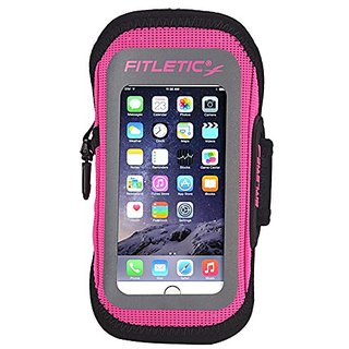 Fitletic Surge Sports Armband - fits Galaxy Smartphones and iPhone 6, (Pink, L/XL)