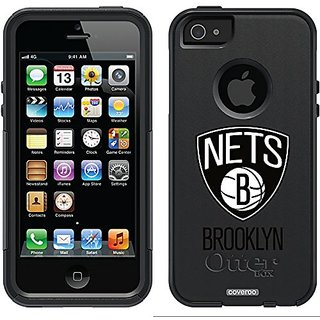 Coveroo Commuter Series Case for iPhone 5s/5 - Retail Packaging - Brooklyn Nets - Primary Logo Design