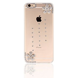 iPhone 6s Plus Case (2015), Humenn Hand made Series Silver Cherry Blossom - Clear Side
