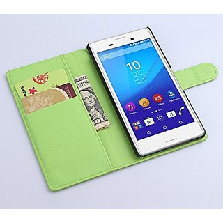 xperia M4 AQUA Case - Flip Pu Leather Wallet Case Holder Cover with Stand / Card Slots for Sony Xperia M4 Smartphone (Wa