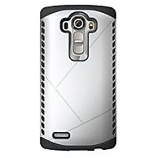 Cruzerlite Spartan Dual Layer Case Compatible with LG G4 - Silver