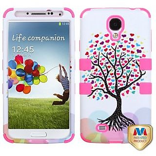 MyBat Samsung Galaxy S 4 (I337/L720/M919/I545/R970/I9505/I9500) TUFF Hybrid Phone Protector Cover - Retail Packaging - L