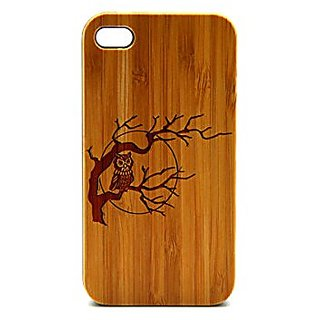 Krezy Case Real Wood iPhone 5s Case, Cute owl iPhone 5s Case, eyes iPhone 5s Case, Wood iPhone Case