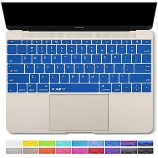 Macbook Retina 12 keyboard cover, ROARTZ Navy Premium Silicone Keyboard Skin For Macbook 12