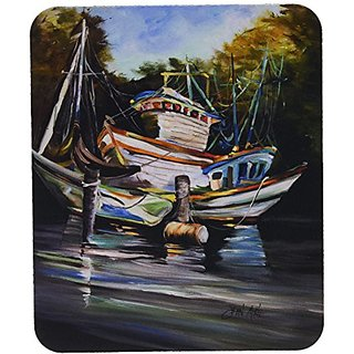 Carolines Treasures Shrimpers Cove & Shrimp Boats Mouse Pad/Hot Pad/Trivet (JMK1152MP)