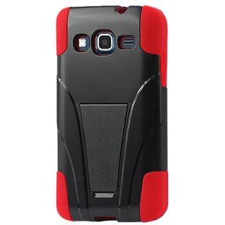 Reiko Silicon Case/Protector Cover for Samsung ATIV S Neo - Non-Retail Packaging - Red/Black
