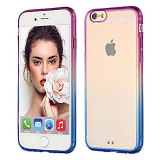 ACCBTECH iPhone 6S 6 Case Translucent Cover Impact Resistant Flexible TPU Soft Bumper Case Gradient Colorful Clear Slim